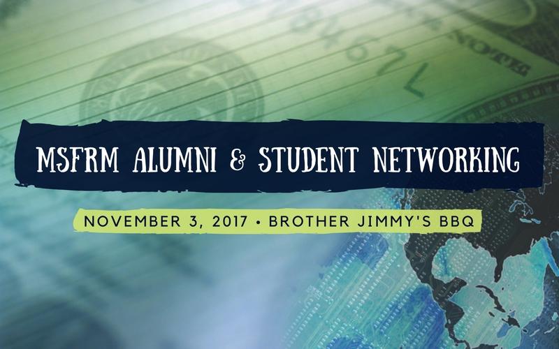 MSFRM Alumni & Student Networking