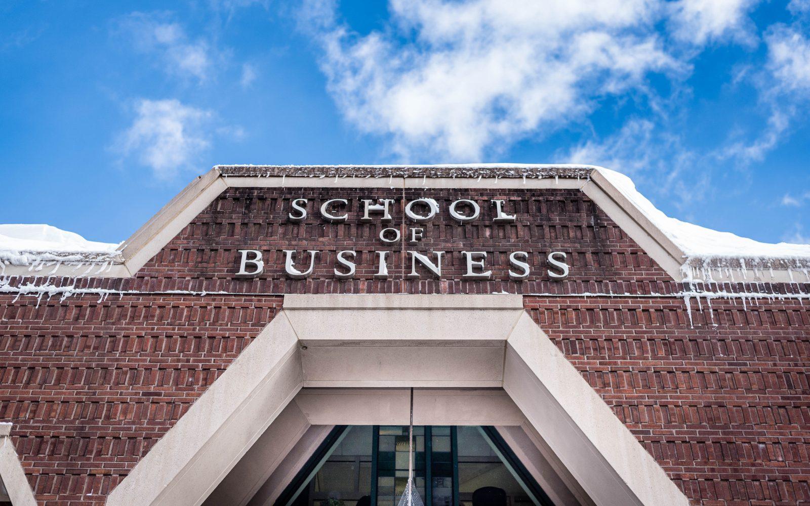 School of Business Exterior, Winter
