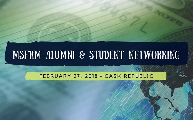 MSFRM student networking